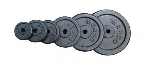 Litinové závaží Merco 30 mm, 1,25 kg