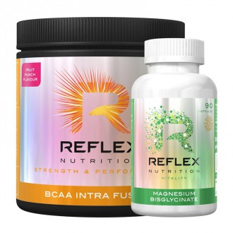 Reflex Nutrition BCAA Intra Fusion 400 g + Albion Magnesium 90 cps ZDARMA