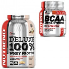 Nutrend Deluxe 100% Whey Protein 2250 g + BCAA 300 g zdarma