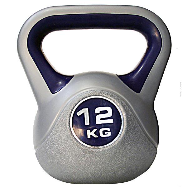 Kettlebell 12 kg - šedá