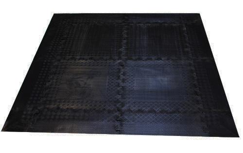 Podložka zátěžová InSPORTline RUBBER 140x140x1,2cm
