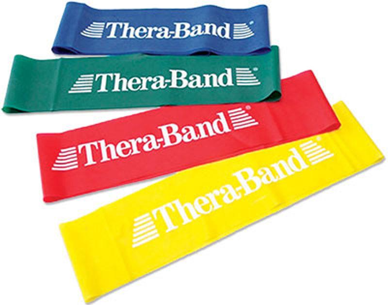 Cvičební guma TheraBand Loop 7,6 cm x 30,5 cm - červená - středně silná
