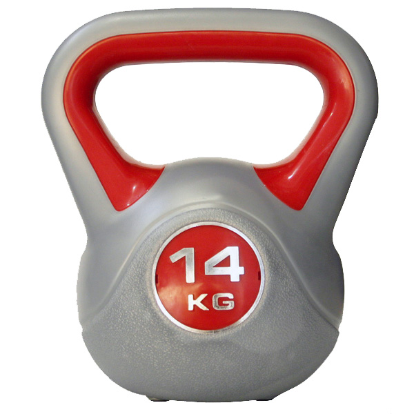 Kettlebell 14 kg - šedá