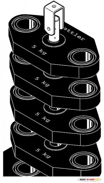 Kettler ROZŠIŘUJÍCÍ SET ZÁVAŽÍ 20 kg - pro věže KINETIC