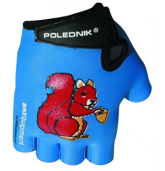 Dětské cyklistické rukavice Polednik Baby modré - 5