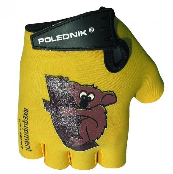 Dětské cyklistické rukavice Polednik Baby žluté - 5