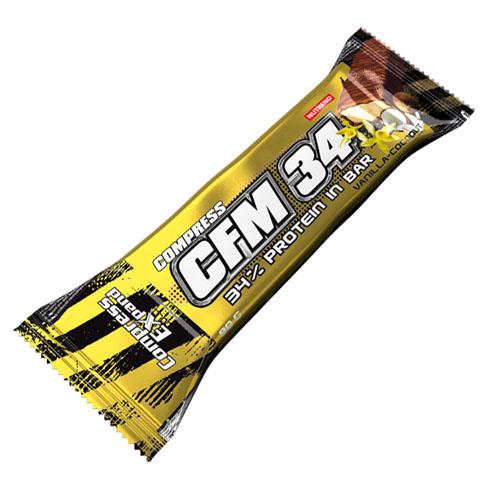 Nutrend Compress CFM 34% Protein Bar 80 g - vanilka s kokosem