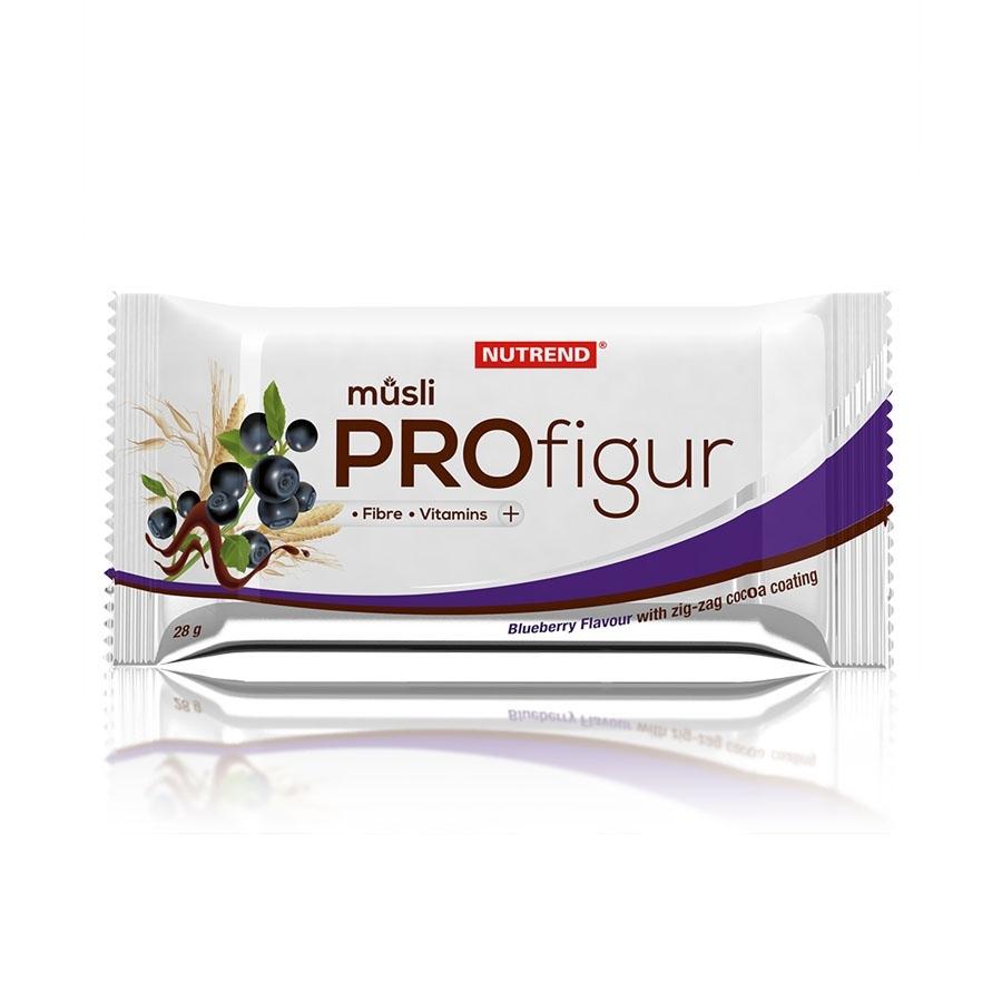 Nutrend ProFigur müsli - cik cak čokoládová poleva 28 g - borůvka