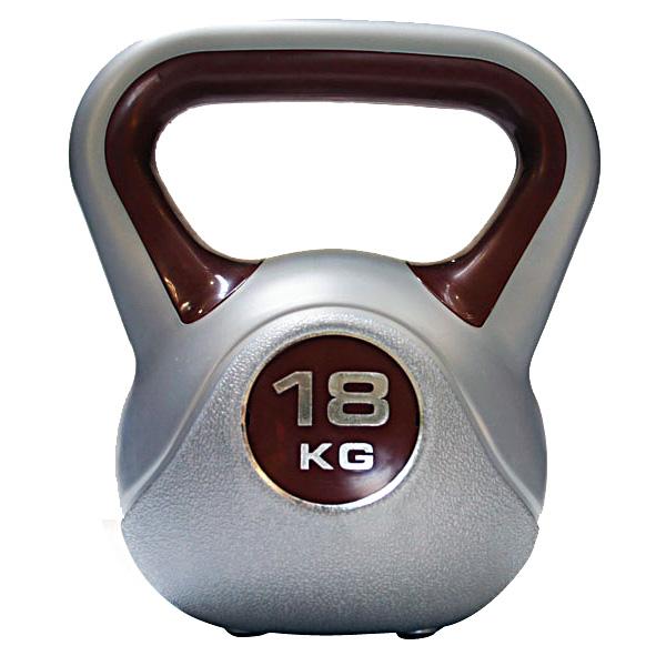 Kettlebell 18 kg - šedá