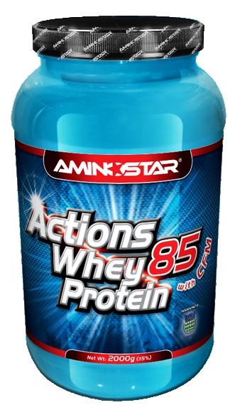 Aminostar Whey Protein Actions 85 2000 g - vanilka