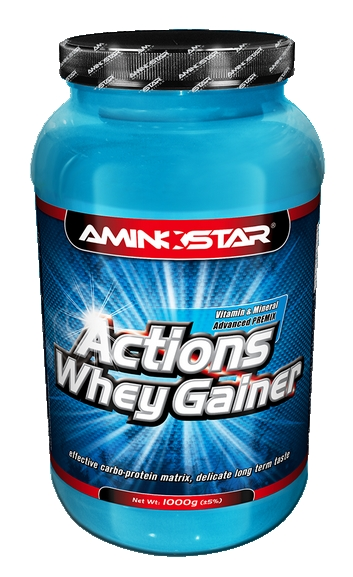 Aminostar Whey Gainer Actions 4500g - jahoda