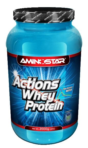 Aminostar Whey Protein Actions 65 2000 g - čokoláda