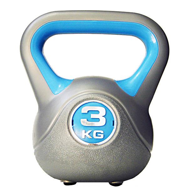 Kettlebell 3 kg - šedá