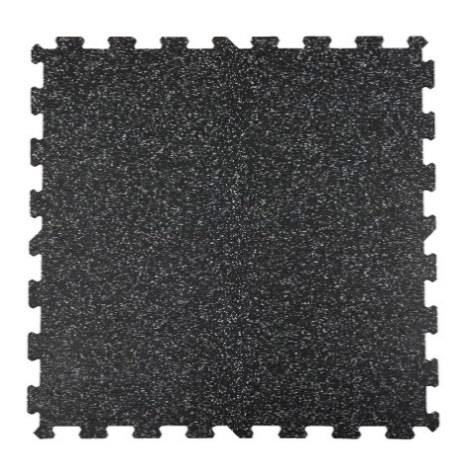 Attack Sportovní podlaha Puzzle 8 mm, 1 x 1 m - barevný vsyp 20% - červená
