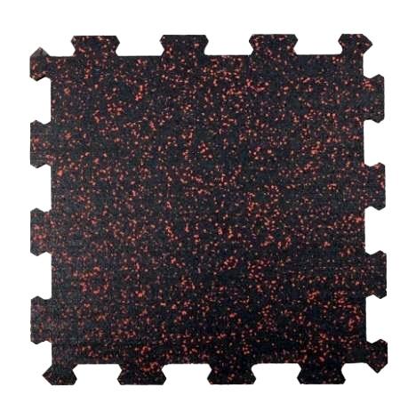 Attack Sportovní podlaha Puzzle 8 mm, 50 x 50 cm - barevný vsyp 20% - červená