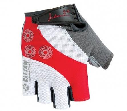 Dámské cyklistické rukavice Polednik Daisy červené - M