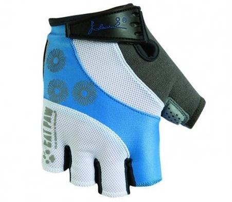 Dámské cyklistické rukavice Polednik Daisy světle modré - M