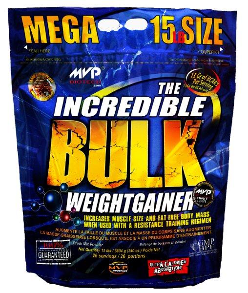 MVP Nutrition The Incredible Bulk Weight Gainer 6800g + Bonus 15% ZDARMA - cookies