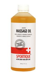 Sportique PRO Massage Oil 500 ml - Meruňkový a pupálkový olej s arnikou