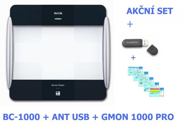 Set - tělesný analyzátor Tanita BC-1000 + ANT STICK + SOFTWARE GMON 1000 PRO