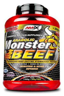Amix Anabolic Monster BEEF 90% Protein 2200 g - lesní plody