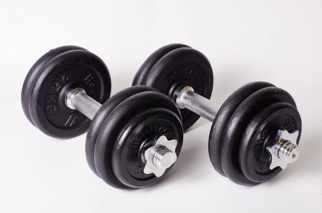 Hsport ČINKOVÝ SET 30 kg (2x15 kg) - litina - rovná s rádlováním