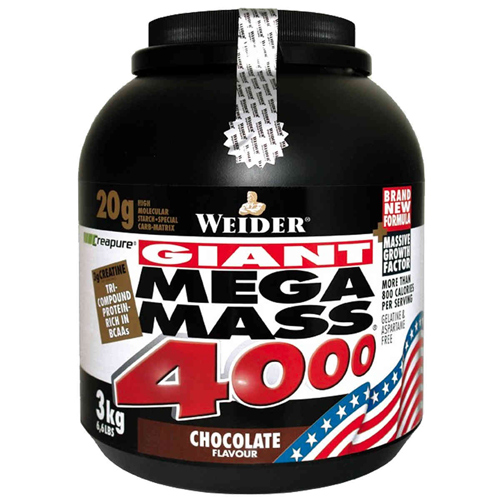 Weider Giant Mega Mass 4000 3000g - vanilka