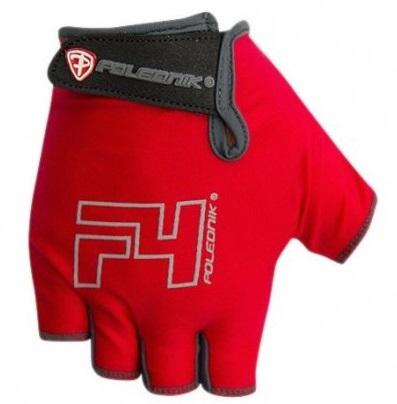 Cyklistické rukavice Polednik F4 červené - M