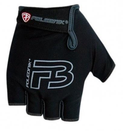 Cyklistické rukavice Polednik F3 černé - M