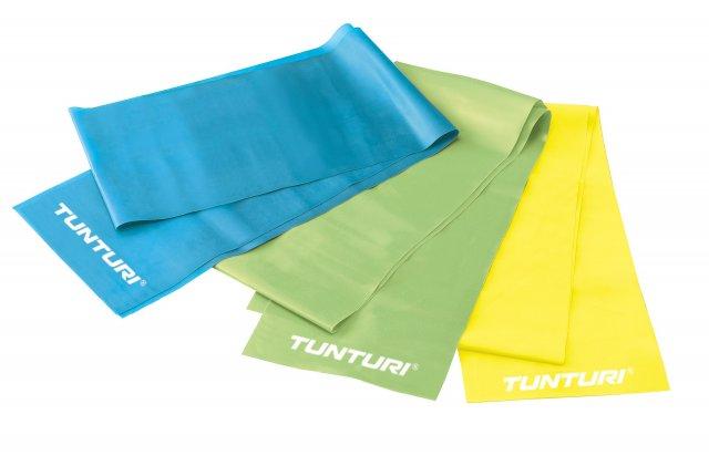 Posilovací guma Tunturi Aerobic band - střední - zelená