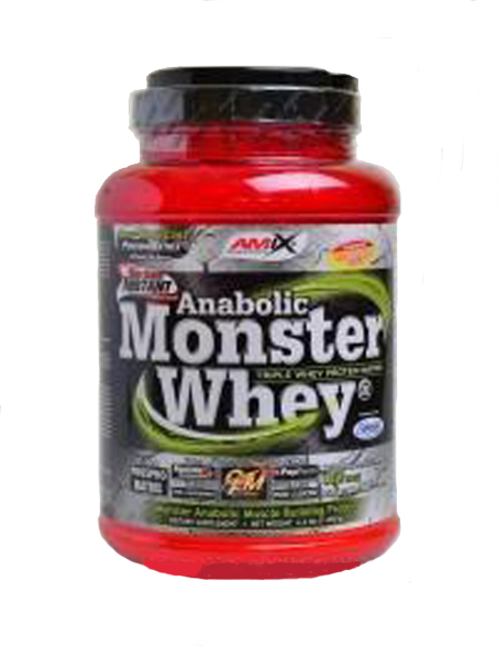 Amix Anabolic Monster Whey Protein 1000 g - jahoda-banán