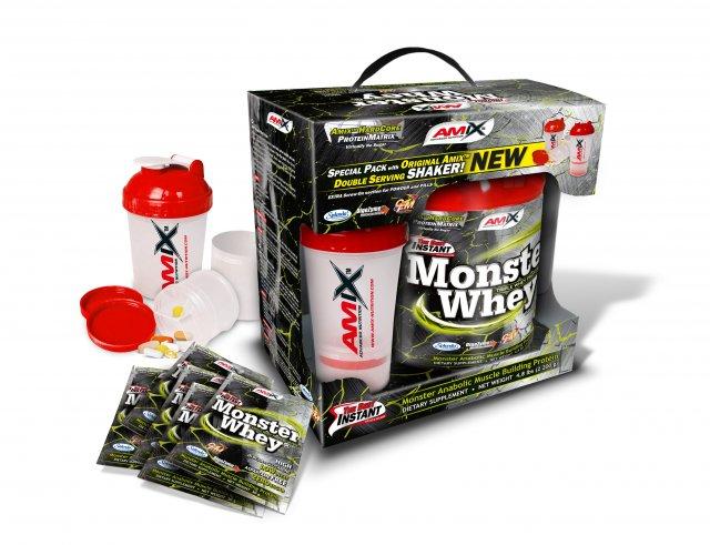 Amix Anabolic Monster Whey Protein 2200 g BOX + šejkr ZDARMA - dvojitá čokoláda