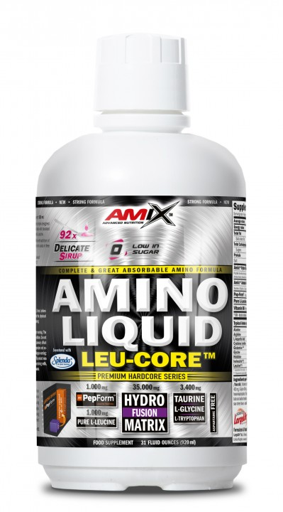 Amix Amino Liquid LEU-CORE 920 ml - višeň