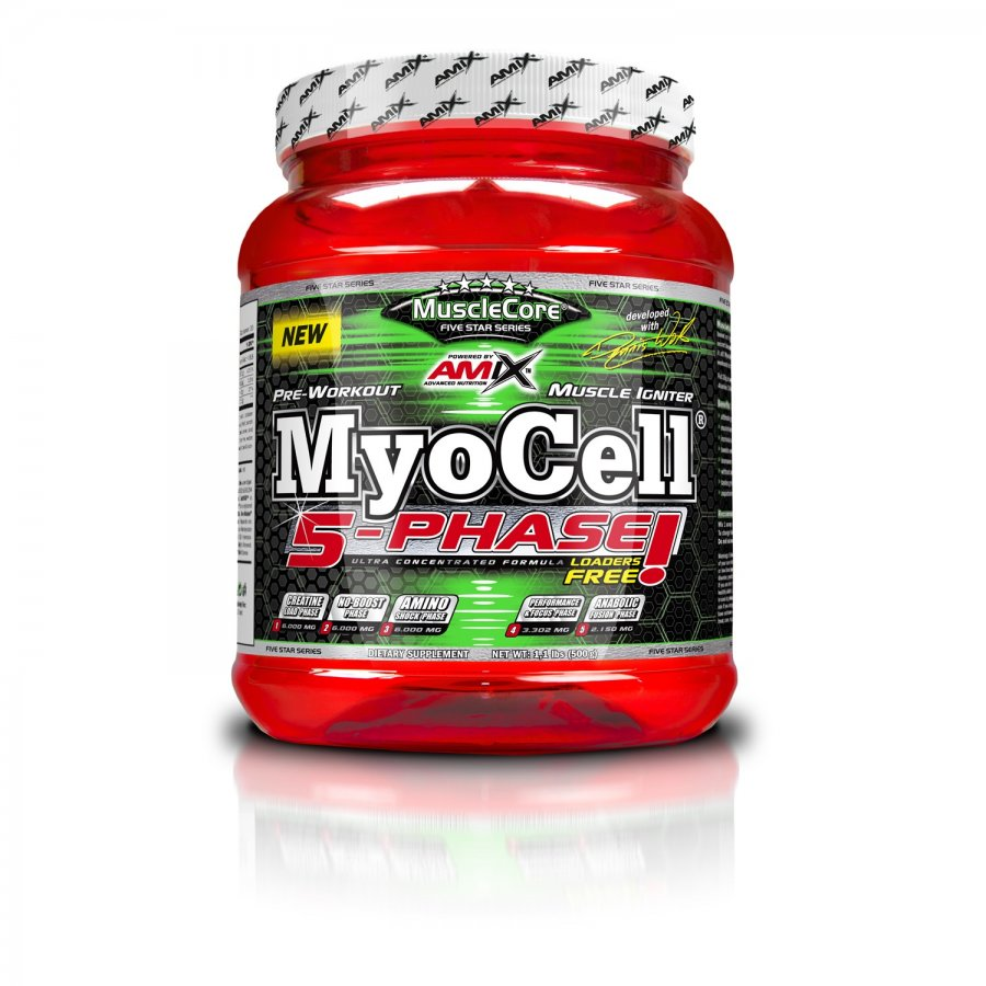 Amix MuscleCore MyoCell 5 Phase 500 g - fruit punch