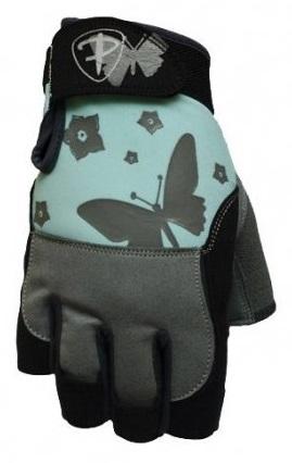 Dámské fitness rukavice Polednik Butterfly tyrkysové - XS