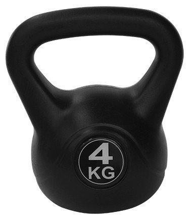 Kettlebell 4 kg - černá