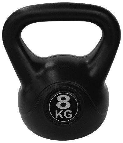 Kettlebell 8 kg - černá
