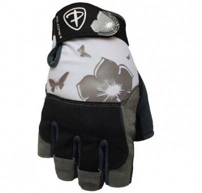 Dámské fitness rukavice Polednik Flower šedé - XS