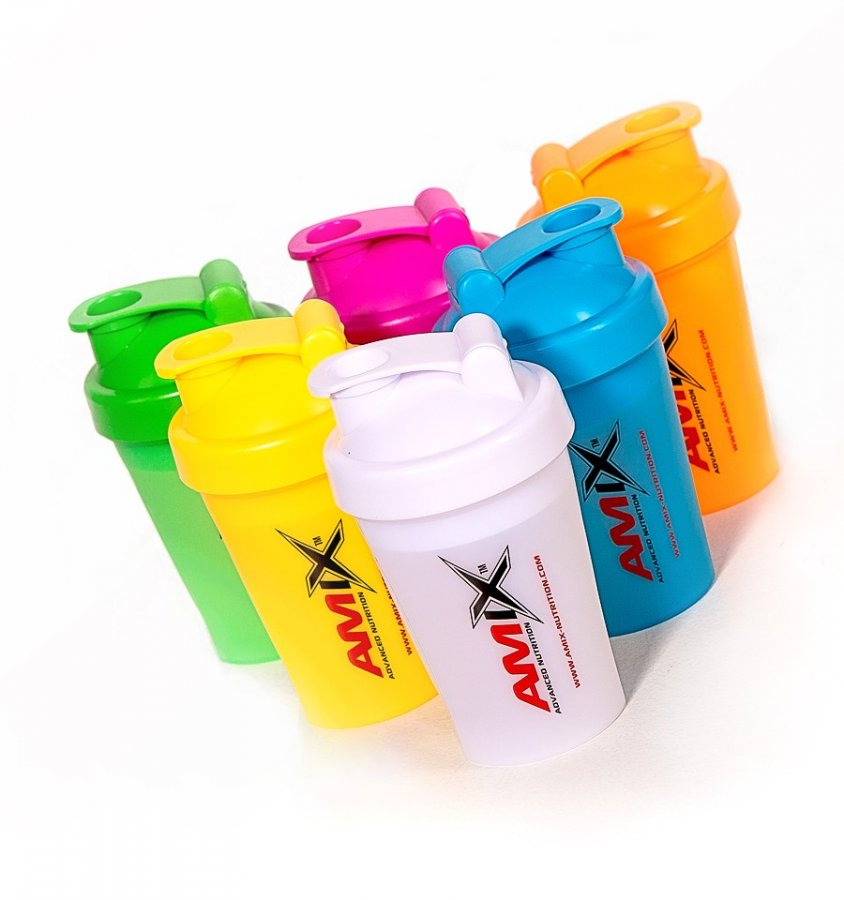 Amix shaker Color mini 400 ml - bílá
