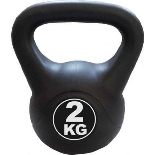 Kettlebell 2 kg - černá