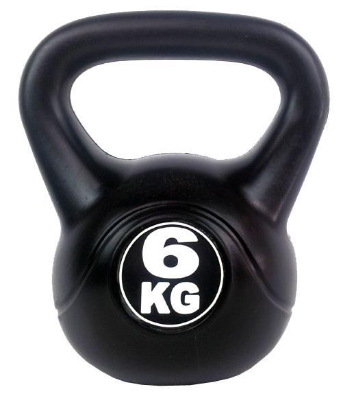 Kettlebell 6 kg - černá