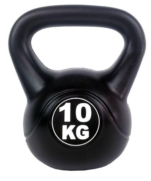 Kettlebell 10 kg - černá