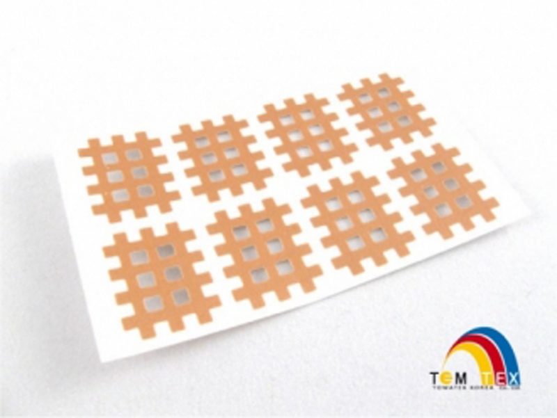 Towatek Cross tejp Temtex - Classic 2,1 x 2,7 cm - 8 ks - béžová