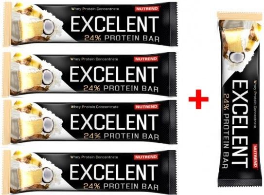 Nutrend Excelent Protein Bar 40 g 4+1 zdarma - marcipán-mandle