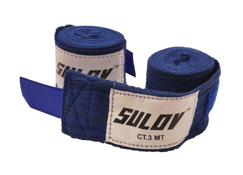 Boxerské bandáže Sulov 3 m - modrá