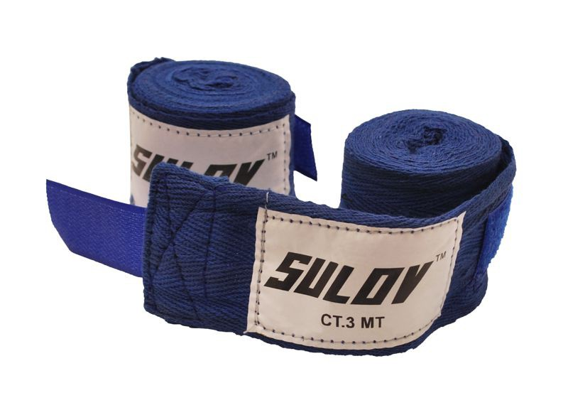 Boxerské bandáže Sulov 3 m - bílá