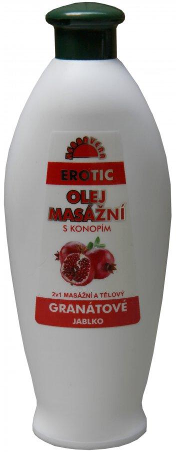 Masážní olej Herbavera Erotic 550 ml
