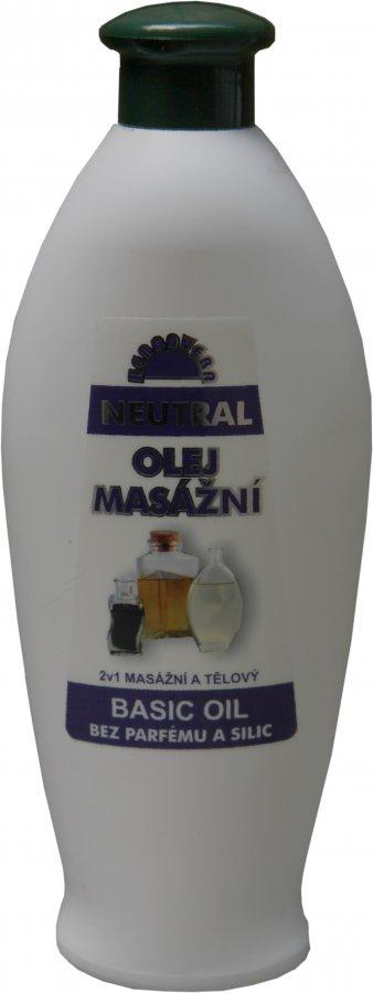 Masážní olej Herbavera Neutral 550 ml
