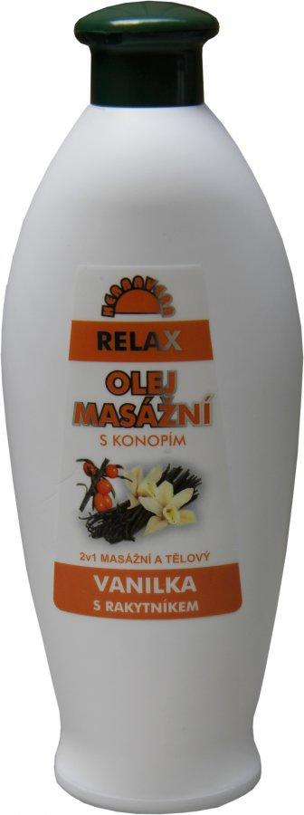 Masážní olej Herbavera Relax 550 ml