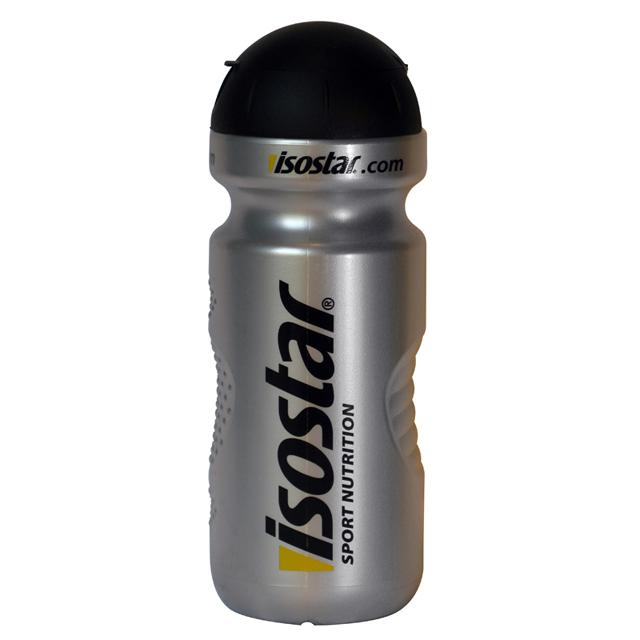 Isostar láhev 650ml - CAP - stříbrná-černá